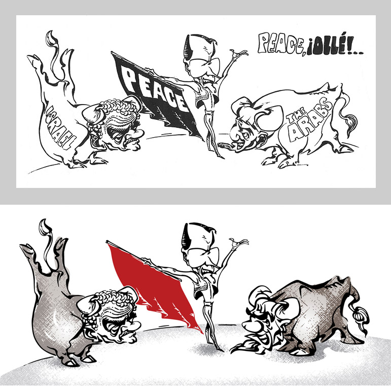Politikai karikatura - political cartoon