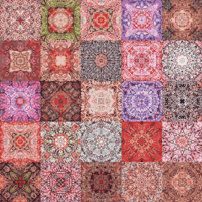 Abstract decorative patterns patchwork