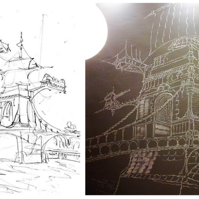 Mural - from sketch to reality
