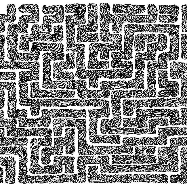 Abstract labyrinth maze