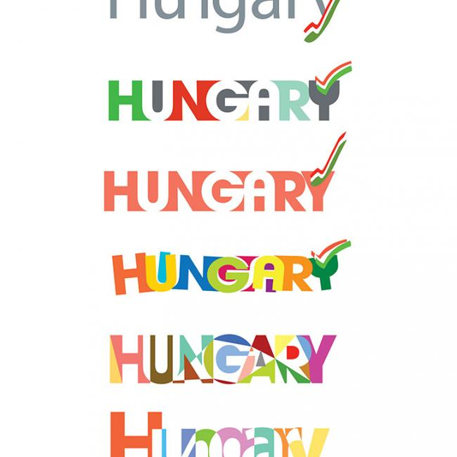 Logo variations on the word: HUNGARY